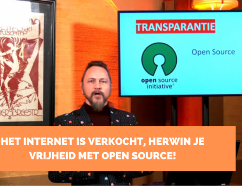 Het internet is verkocht. Herwin je vrijheid met Open Source!